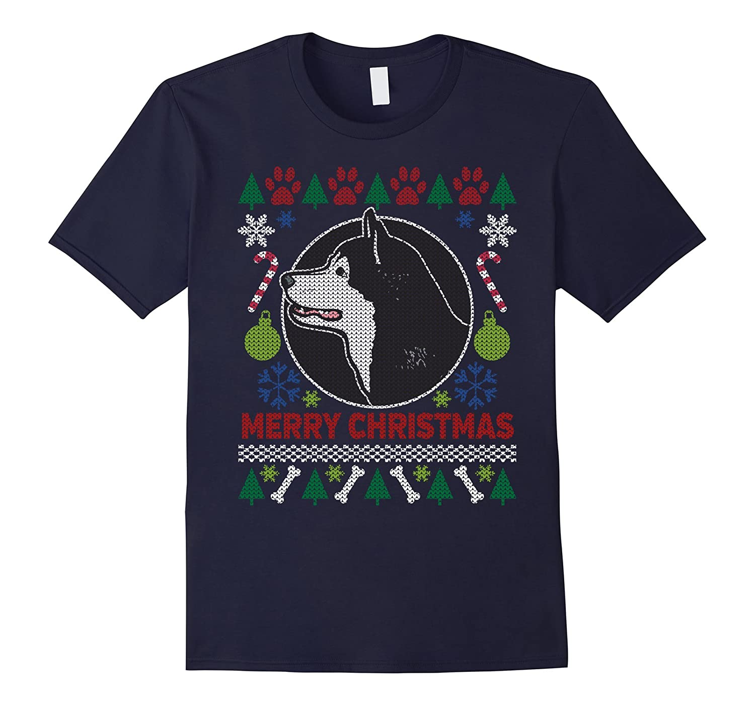 Alaskan Malamute Dog Breed Owners Ugly Christmas T-shirt-azvn