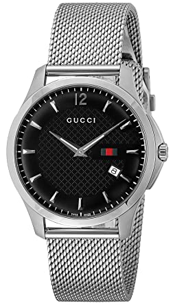amazon com gucci watch g timeless black dial ya126308 watches