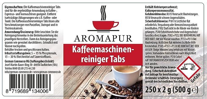 miele caffè automatica 25 compresse di pulizia 2g Tabs 2,0g ø15 F Krupps Gastroback