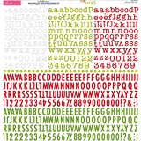 "Tiny Text Cardstock Alphabet Stickers 12""X12""-Festive"