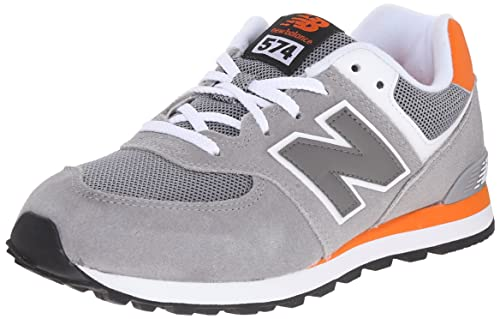 New Balance KL574P1G (KL574P1G), Gris (Grey/Orange), 38