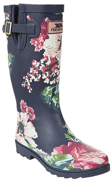 Spot On - Bottes de pluie à talon et imprimé floral - Femme HTdmwYAH