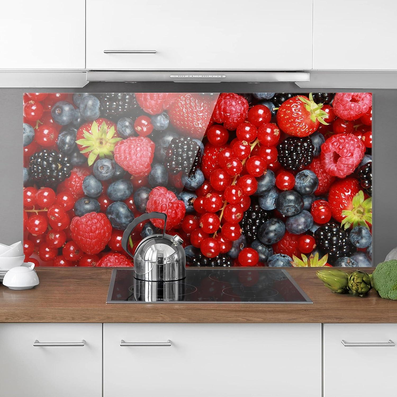 Panel antisalpicaduras Panel de Vidrio para Cocina Protector contra Salpicaduras Shabby Spice Plate Horizontal 2:3 Bilderwelten Panel antisalpicaduras de Cristal Tama/ño: 40cm x 60cm