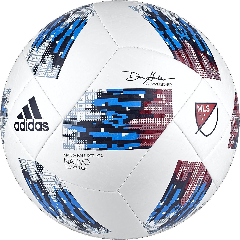 adidas Performance MLS - Balón de fútbol, Color Blanc y Azul, tamaño Talla 3: Amazon.es: Deportes y aire libre