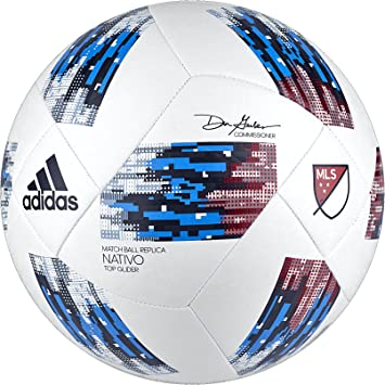 adidas Performance MLS - Balón de fútbol, Color Blanc y Azul ...