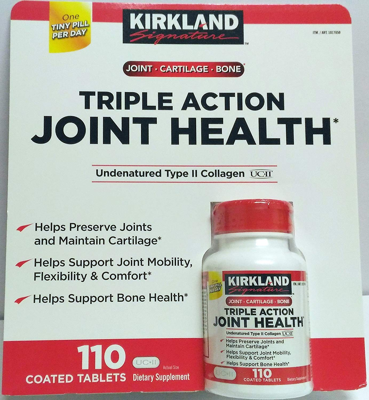 Kirkland Triple Action Joint Health Type II Collagen, Boron and HA - 110 Count