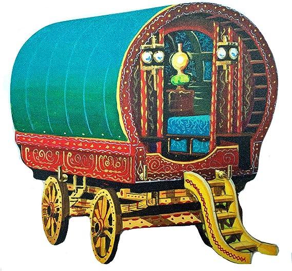WT52-KRH Romany Gypsy Caravan Kitchen Roll Holder