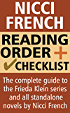 Nicci French Reading Order and Checklist: The complete guide to the Frieda Klein series and all standalone novels by Nicci French