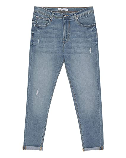 f7cecd87aa Zara Men's Ripped Carrot fit Jeans 7223/461: Amazon.co.uk: Clothing