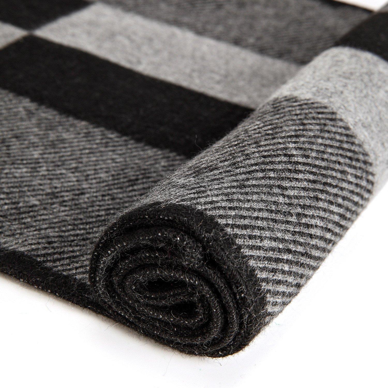 VICWARM Bufanda c/álida de oto/ño e invierno Bufandas para hombre de estilo cl/ásico y elegante