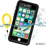 Temdan iPhone 7 /8 Waterproof Case with Kickstand and Floating Strap Built in Screen Protector Transparent Cover Shockproof Snowproof IP68 Waterproof Case for iPhone 7&iPhone 8(2017)