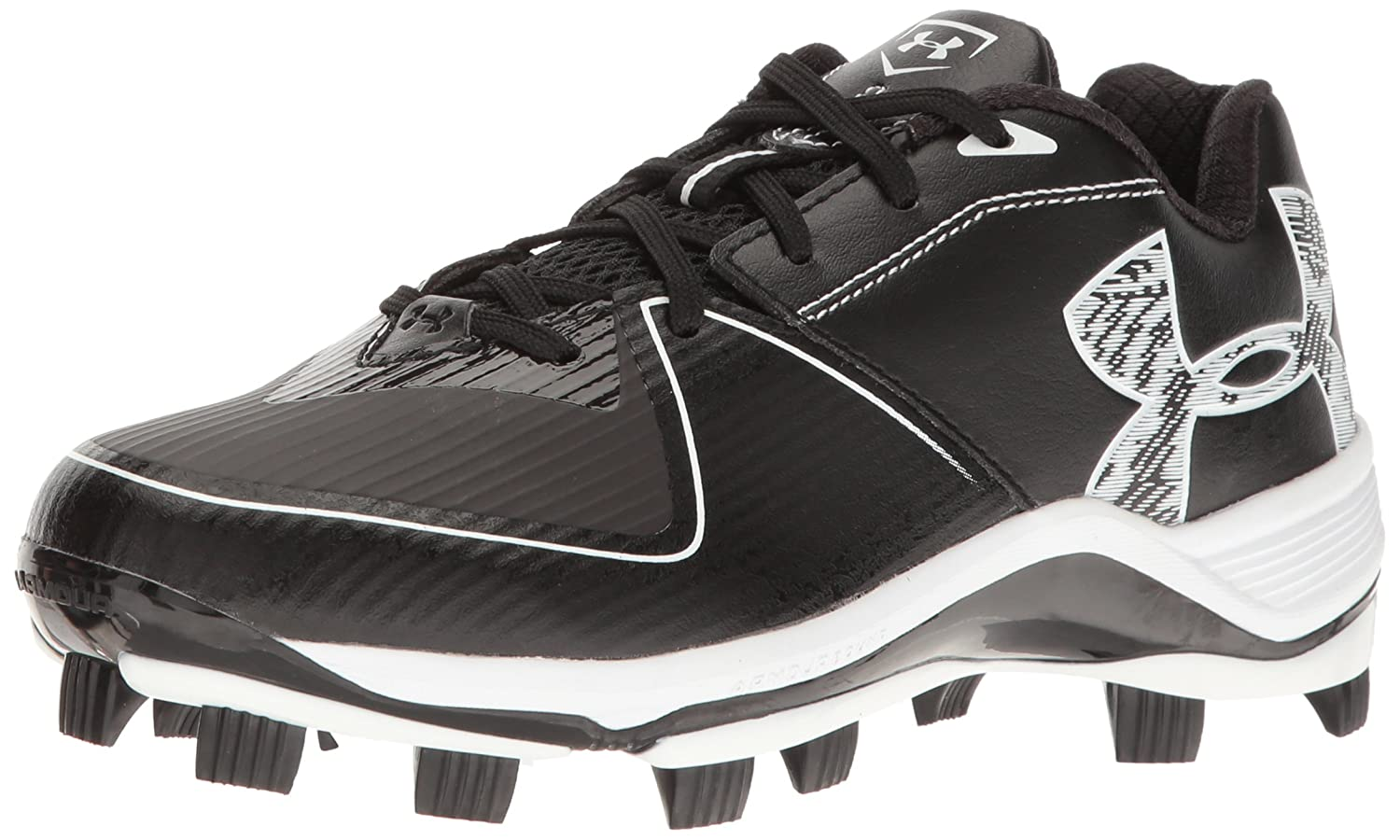 Under Armour Women's Glyde TPU Softball Shoe, Black/Black B01D3RYMXC 6.5 M US|Black (001)/Black