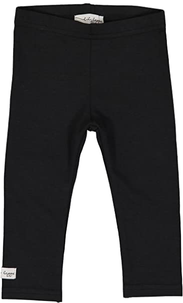 98e625d6e8274 Lil Legs Unisex Boys Girls Toddler Kids Comfy Cotton Leggings - Black, 3  Months