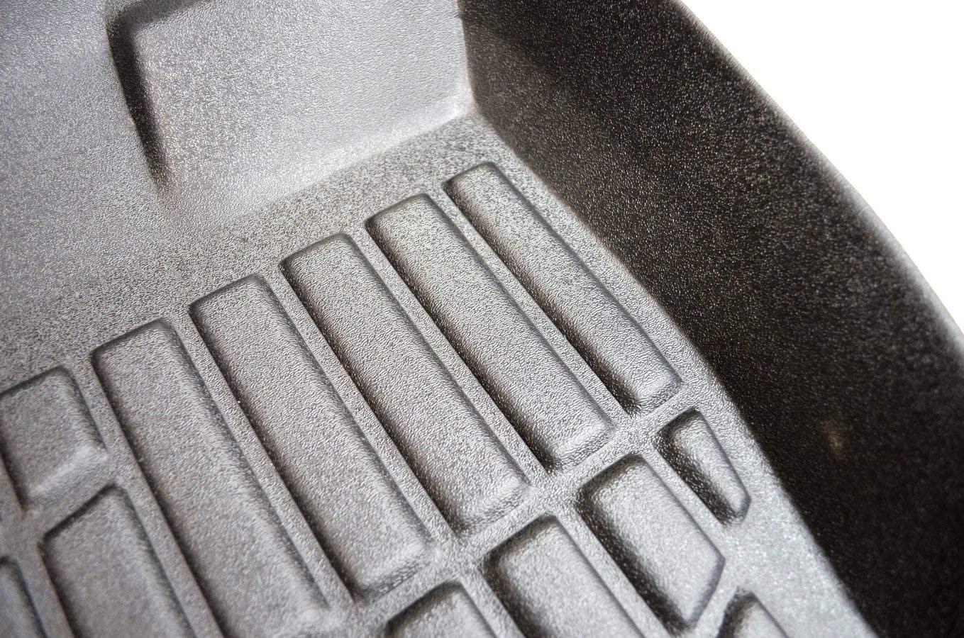 Black First /& Second Row Floor Liners 897682-897684 for Hatchback//Sedan PT Auto Warehouse
