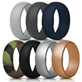 Amazon Price History for:Silicone Rings Wedding Bands - 7 Pack, Mens