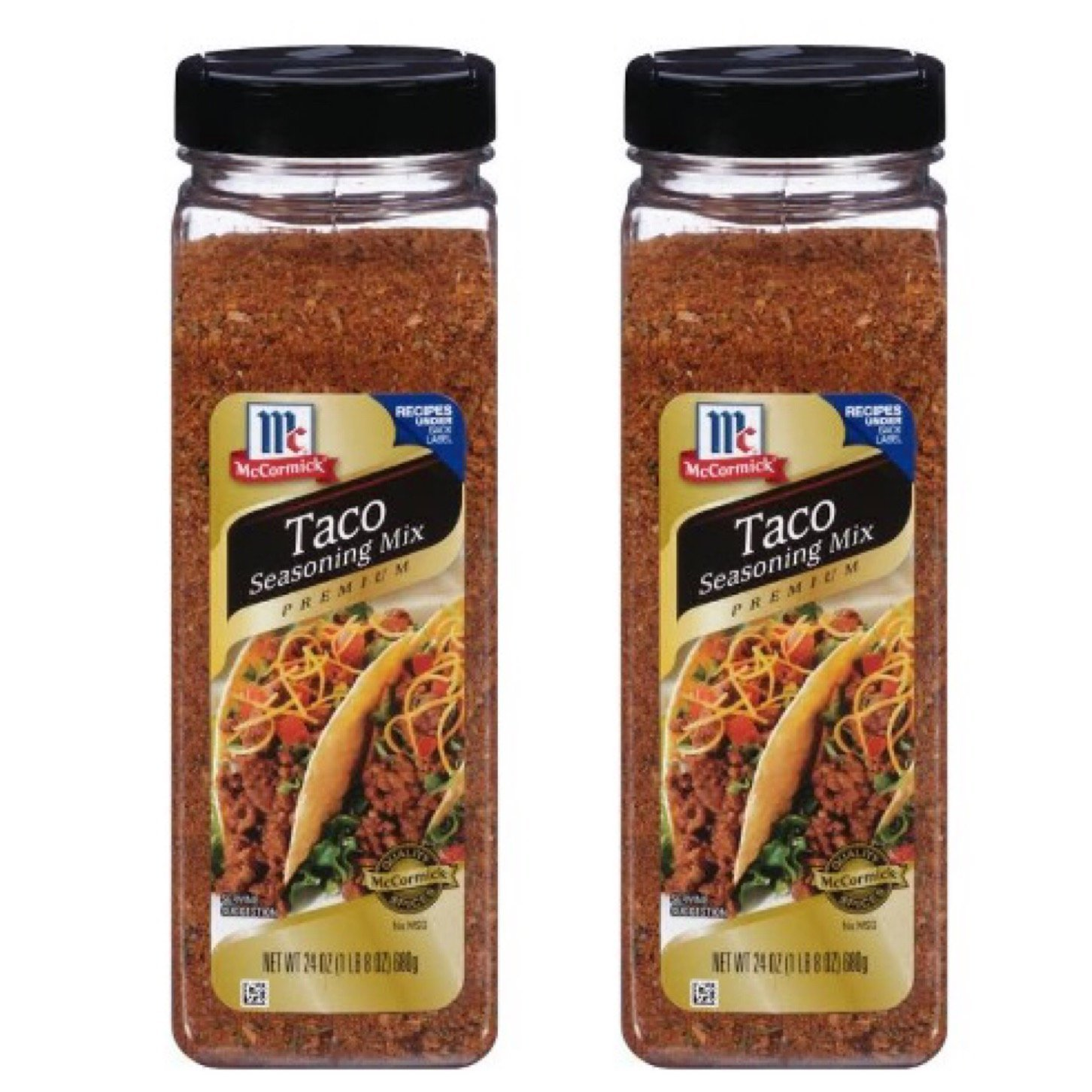 McCormick Premium Taco Seasoning Mix 24 oz (pack of 2)
