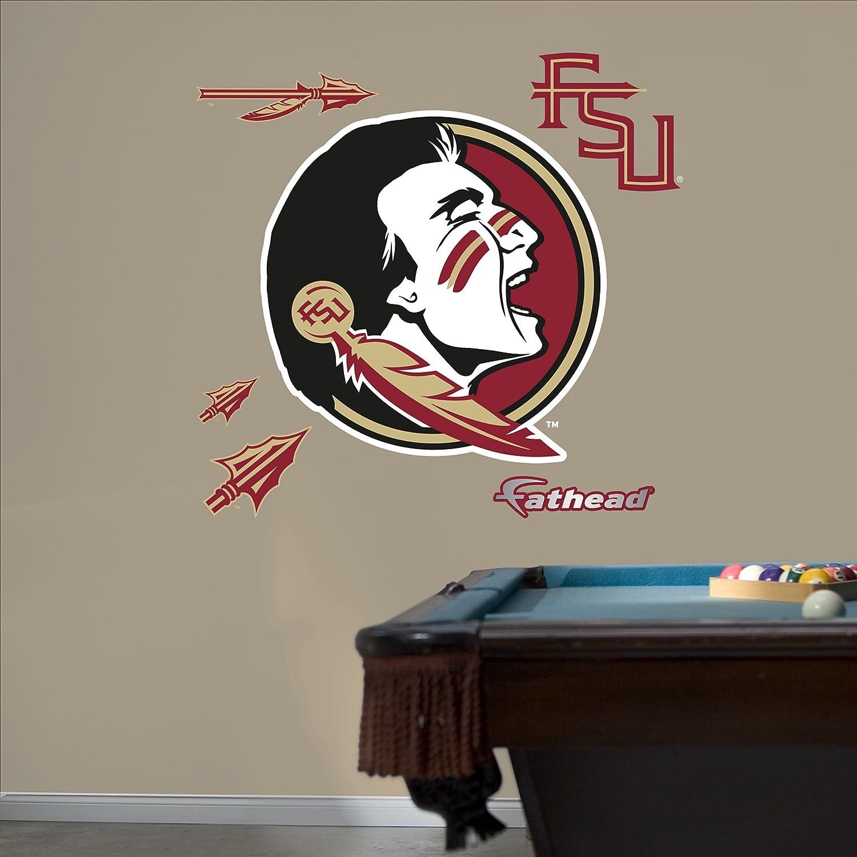 Nfl Fatheads Wall Stickers Amazon Com Ncaa Florida State Seminoles Logo Fathead  Wall Decal