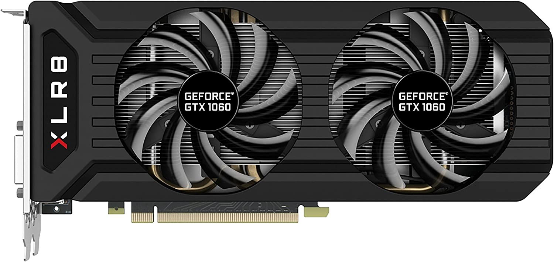 PNY GeForce GTX 1060 6GB XLR8 Gaming Overclocked Graphics Card VCGGTX10606XGPB-OC2