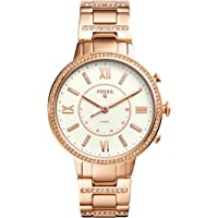 Fossil Q Women's Virginia Stainless Steel Hybrid Smartwatch, Color: Rose Gold-Tone (Model: FTW5010)