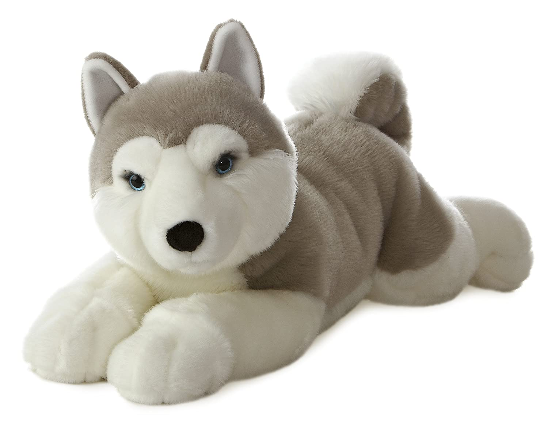 Aurora - Perro Husky de peluche Yukon (66 cm): Amazon.es: Juguetes y juegos