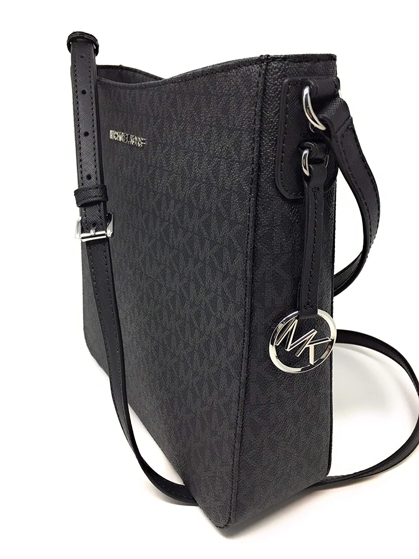 1dfee8d2ed5c98 Amazon.com: Michael Kors Jet Set NS Travel Messenger Bag Black/Black: Shoes