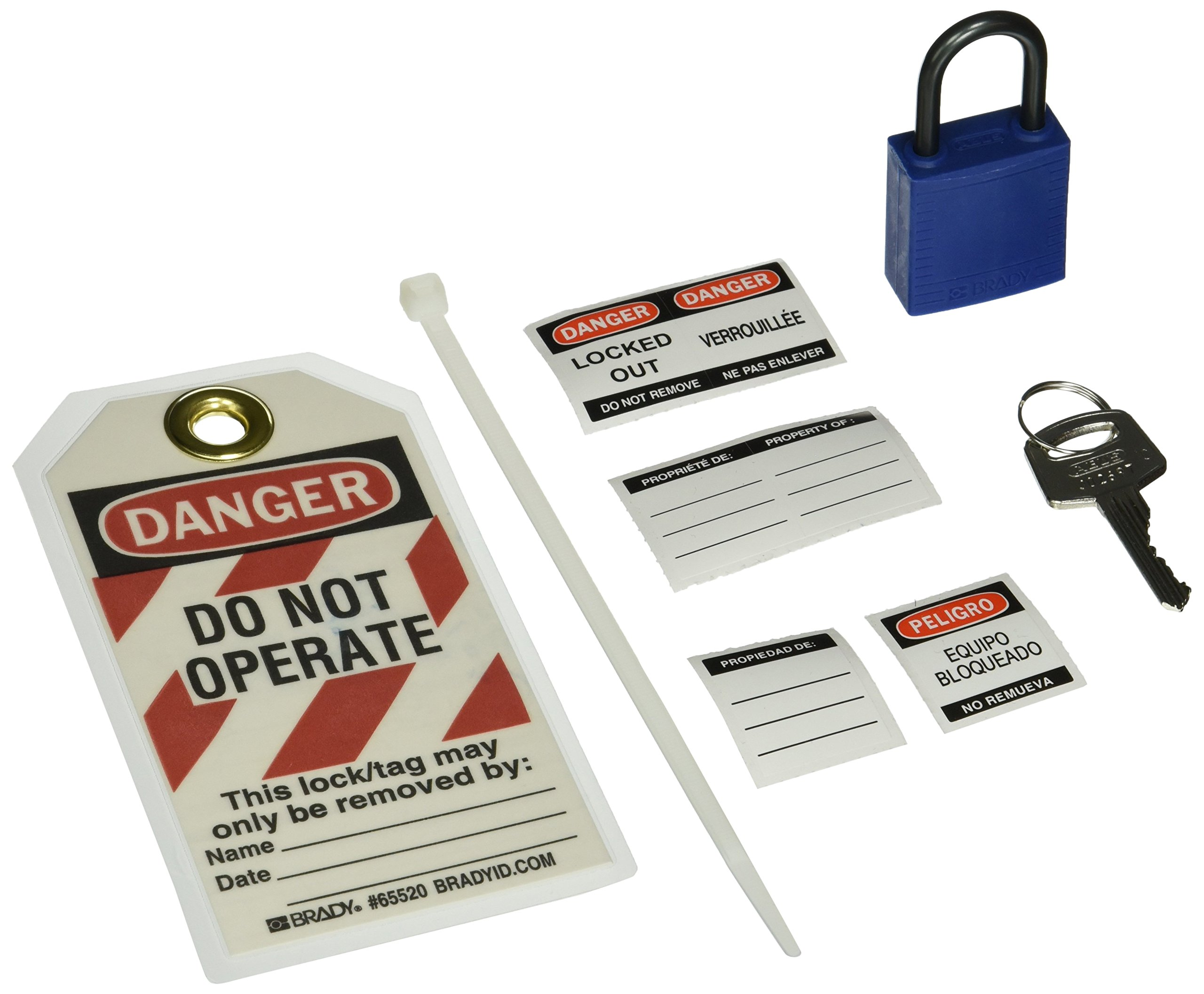 Brady 123146 Compact Lock Personal Kit, Blue