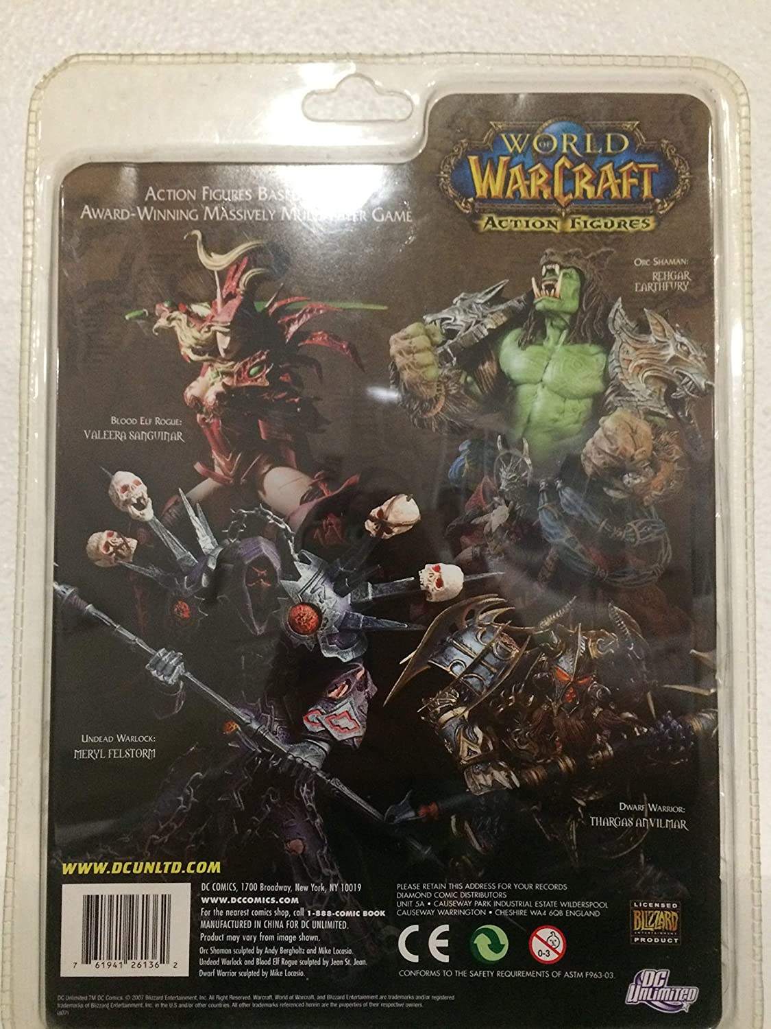 World of Warcraft: Orc Shaman Rehgar Earthfury Action Figure by DC unlimited