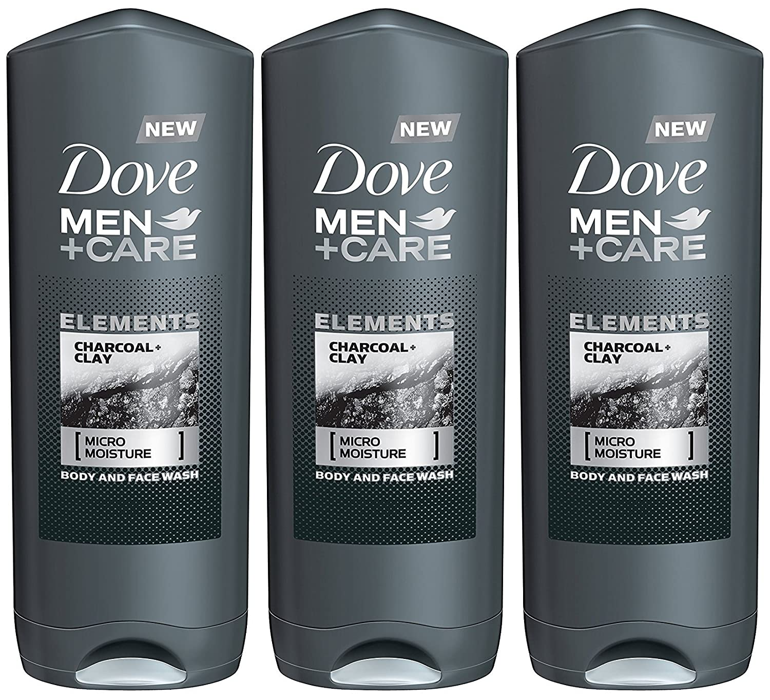 Dove Men + Care Elements Body Wash, Minerals and Sage, 13.5 Ounce(Pack of 3) 13.5 Ounce(Pack of 3)