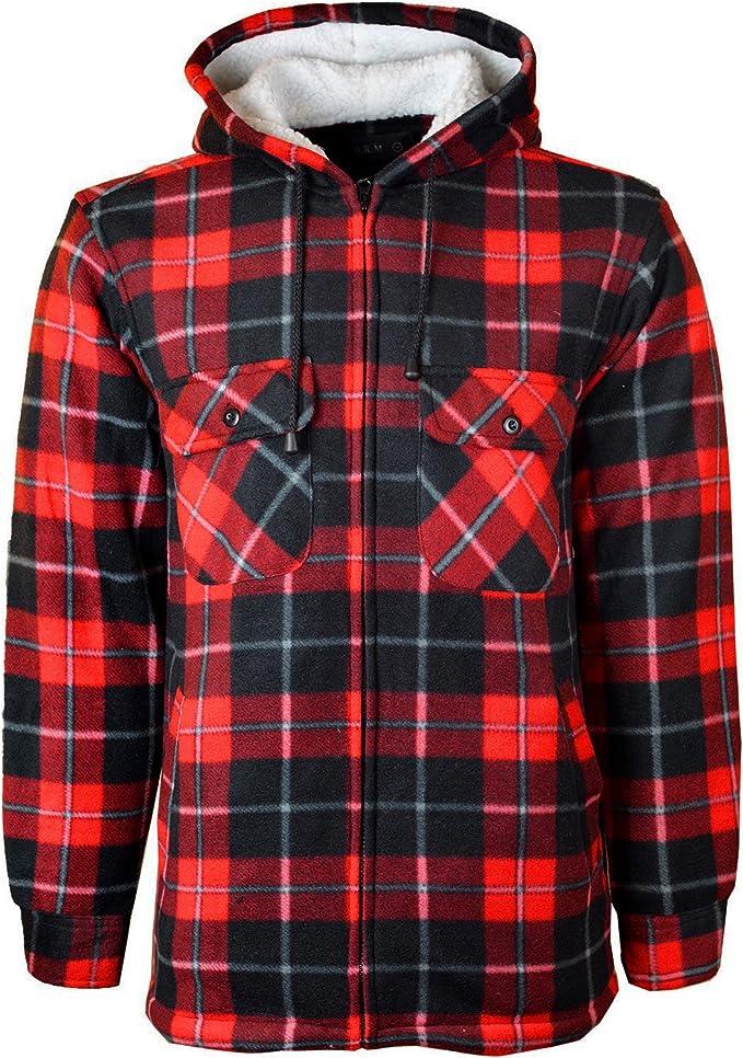 3XL NUOVA linea uomo imbottito con cappuccio trapuntato spessa LUMBERJACK controllo lavoro giacca a camicia S