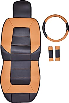 AmazonBasics Deluxe Universal Fit Leatherette Seat Cover Set