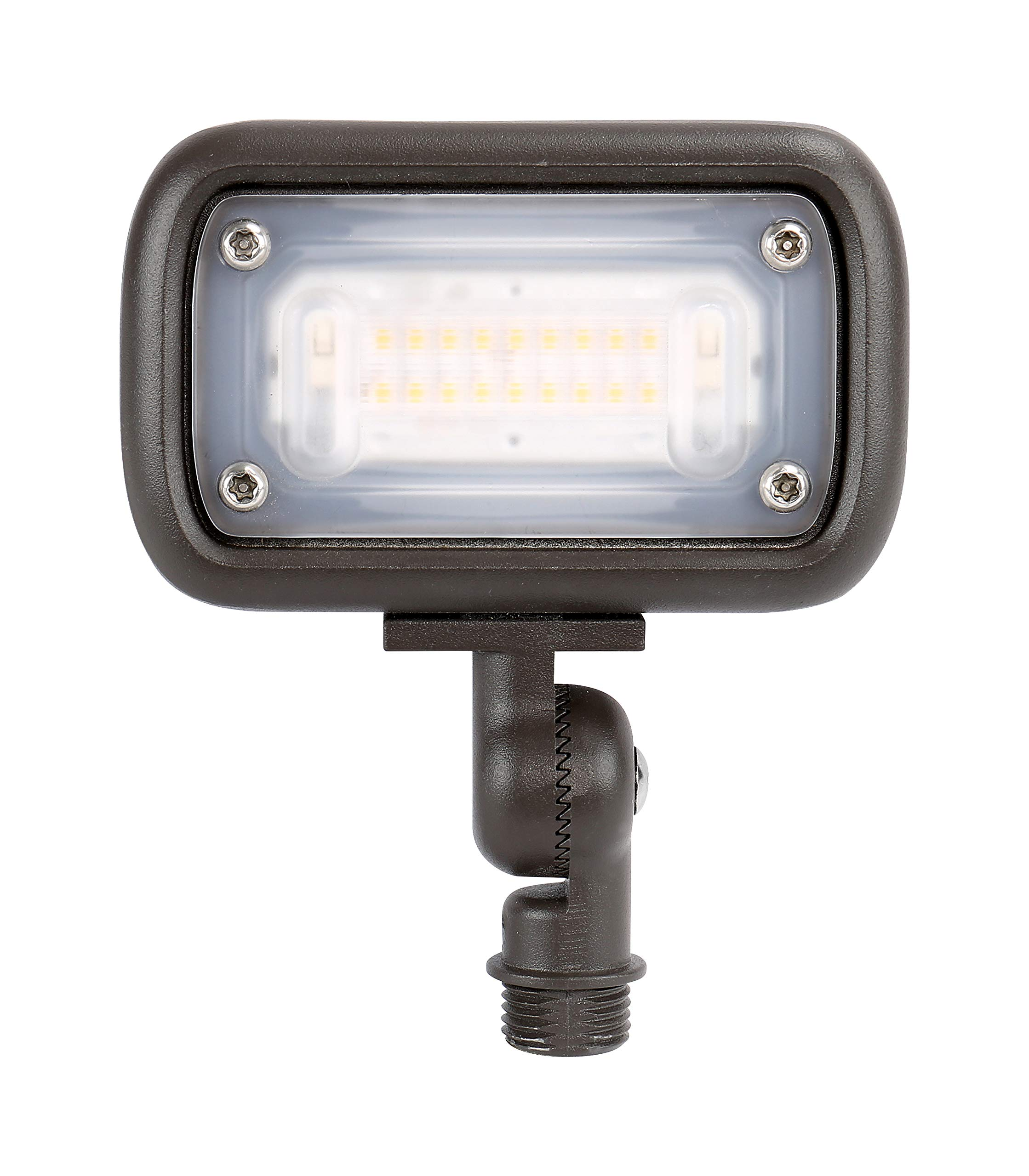 GKOLED 7W Outdoor LED Low Voltage Landscape Lighting Flood Light, 2700K, 550Lumen, 12-24VAC, 1/2'' Adjustable Knuckle Mount