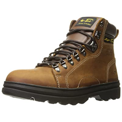 """ADTEC Men's 6"""" Work Hiker Boots with Steel Toe, Slip Resistant, Leather, Construction Boot, Crazy Horse, 11 M US 