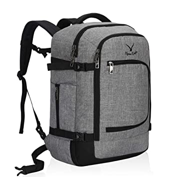 571441a62 Amazon.com | Hynes Eagle Travel Backpack 40L Flight Approved Carry on  Backpack Light Grey 2018 | Casual Daypacks