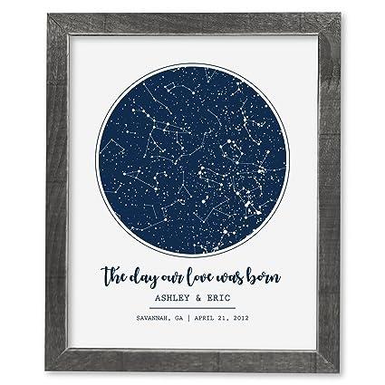 Amazon com: SmoothToast Night Sky Star Map Art, 16