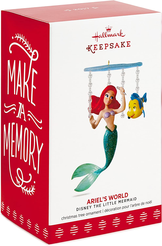 The Little Mermaid Ariel/'s World 2017 Hallmark Disney Ornament  In Stock