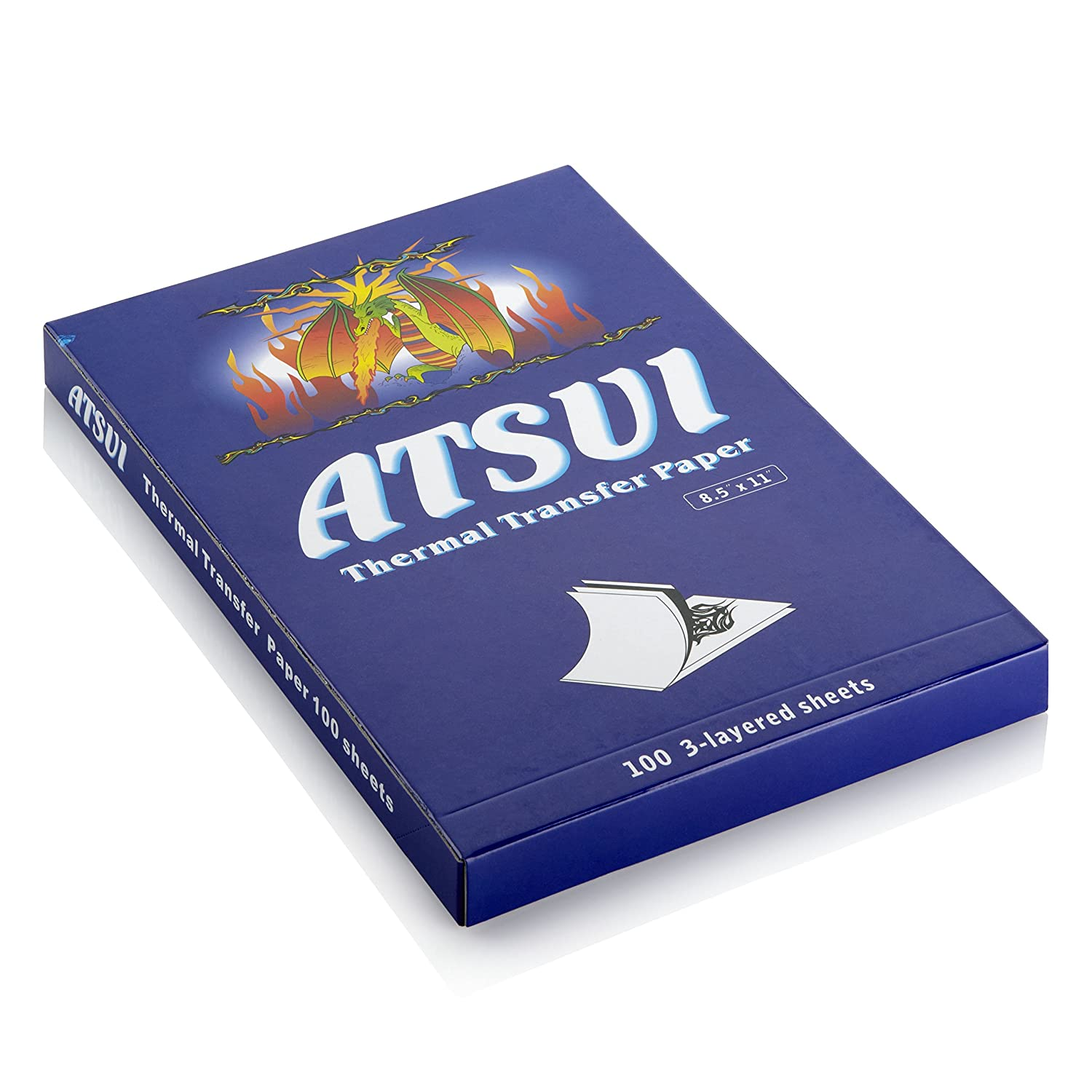 Atsui Thermal Copier Paper - Box of 20 or 100 Sheets - Designed for Tattooing (Box of 100 Sheets)