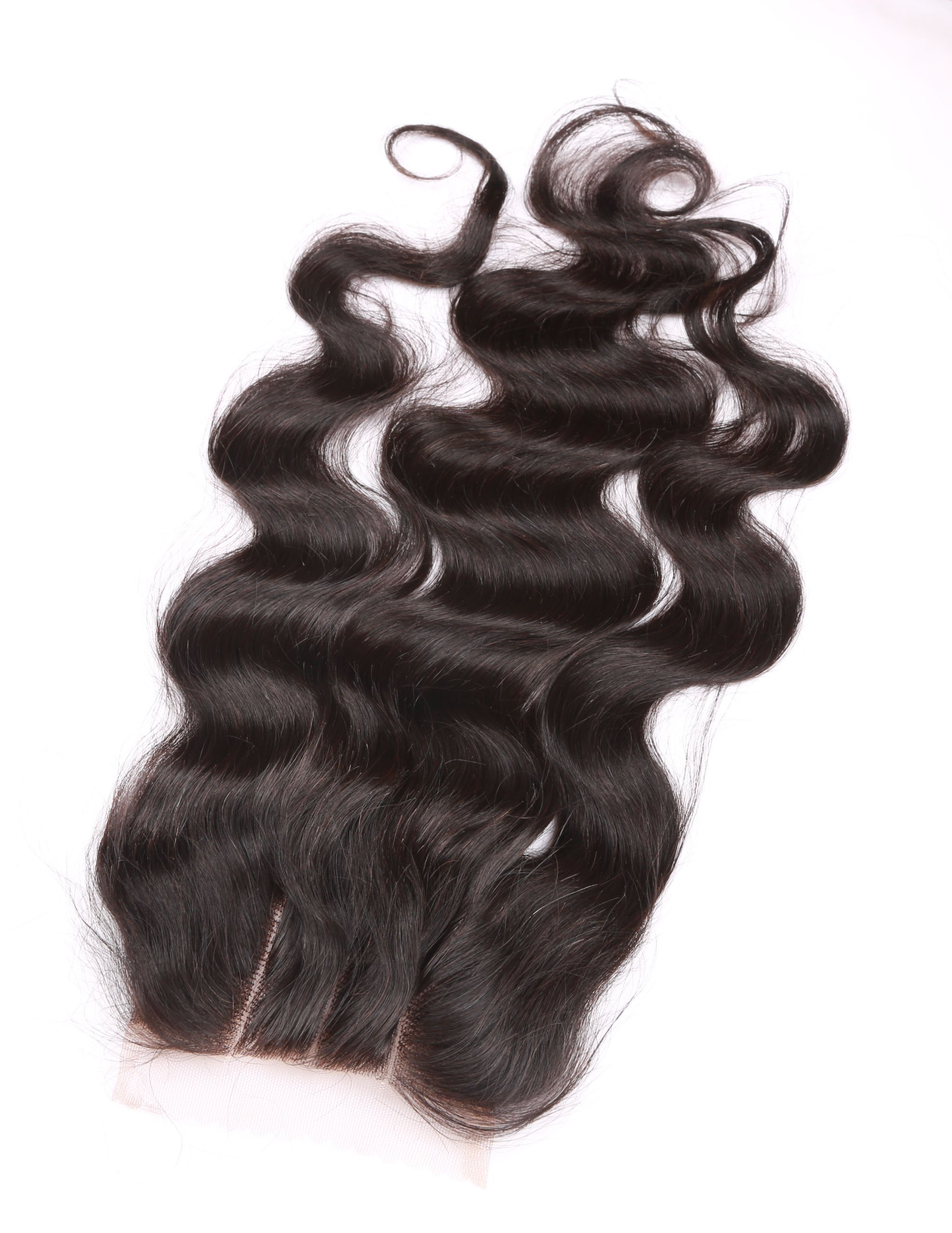 Fennell 3 Part Closure Body Wave Virgin Brazilian Hair 130% Density Lace Closure Natural Hair Color Soft and Silky(8''-20'') (8 inches) by Fennell (Image #4)