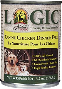 NATURE'S LOGIC Canine Chicken Dinner Fare Dog Food (Case of 12)