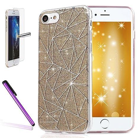 coque iphone 8 plus transparente paillette