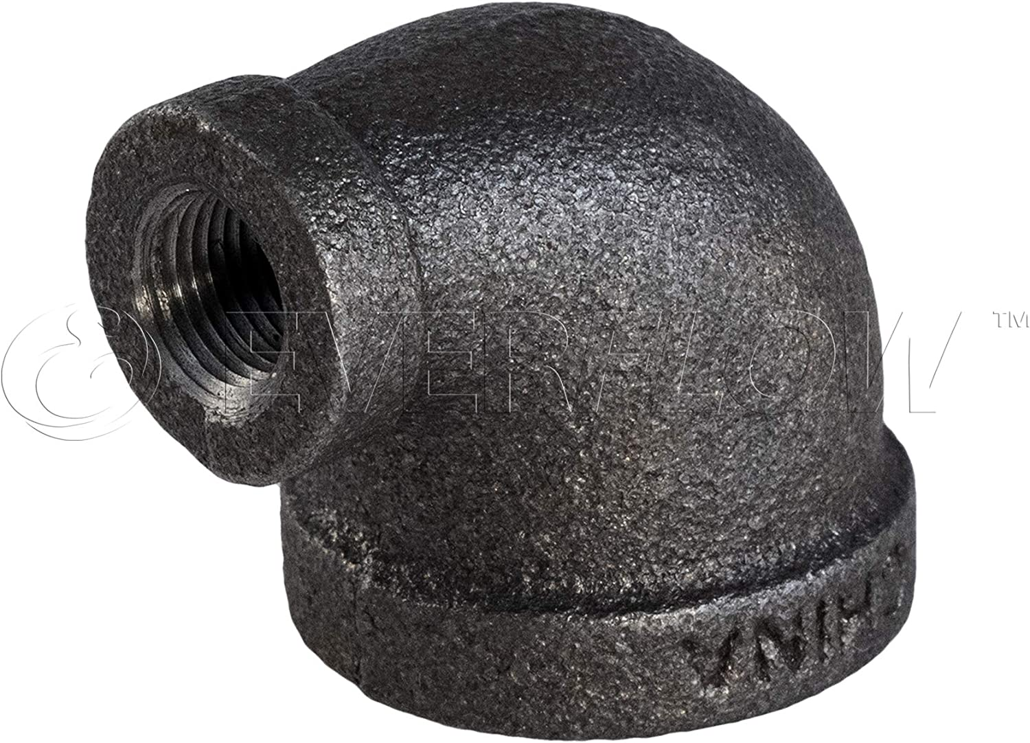 """3//4/"""" Threaded Black Malleable Iron 90-Degree Elbow Fitting"""