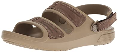 Crocs Men's Yukon Mesa M Flat Sandal, Espresso/Khaki, ...