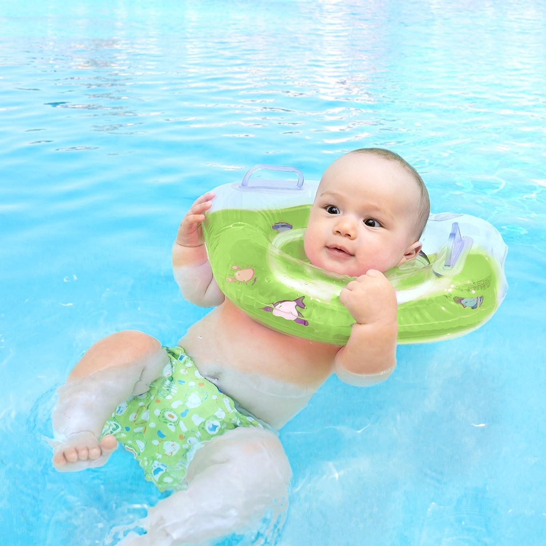 Nest suerte Premium Baby de natación Anillo | flotador para el cuello | 36102 para bebés y niños pequeños de 0 - 18 meses, verde: Amazon.es: Deportes y aire ...