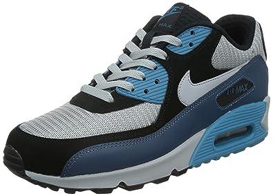 brand new e25ea 6c2a2 Nike Men s Air Max 90 Essential Running Shoes, Blanco Azul Negro (Sqdrn