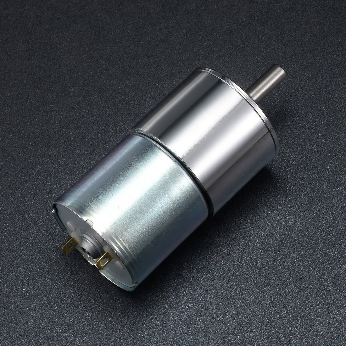 Fimate Electric Micro Speed Reduction Geared Motor Eccentric Output Shaft Gear Motor High Torque DC 12V 10RPM 37mm Diameter Gearbox