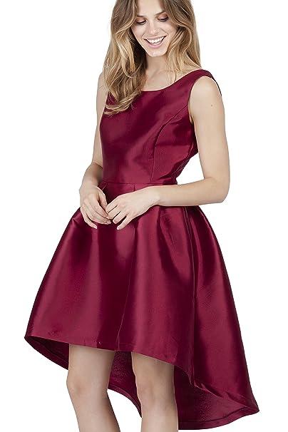 POETE Elisabeth, Vestido para Mujer, Granate, 3