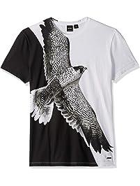1ad0cb41e Hugo Boss Mens Talcon Eagle Waterbase Print Tee T-Shirt