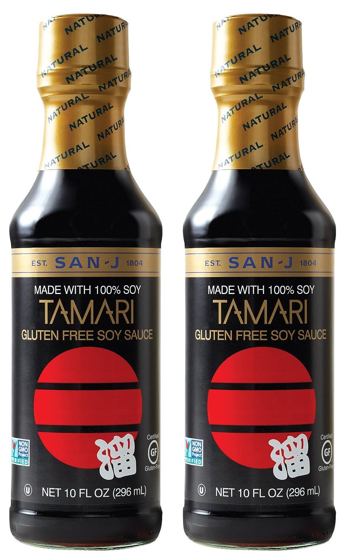 Amazon Com San J Tamari Gluten Free Soy Sauce Black Bottle 10