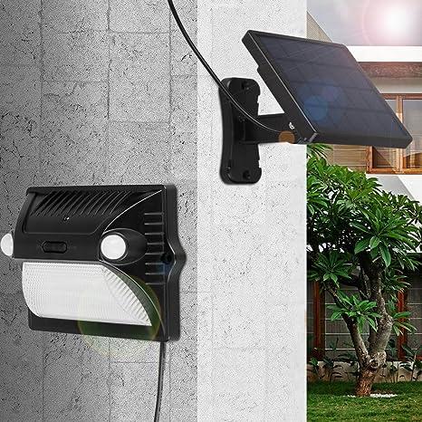 Lampara Solar, YWTESCH Lampara Luces Solares LED Exterior Foco Separable Panel Solar LED Exterior Sensor