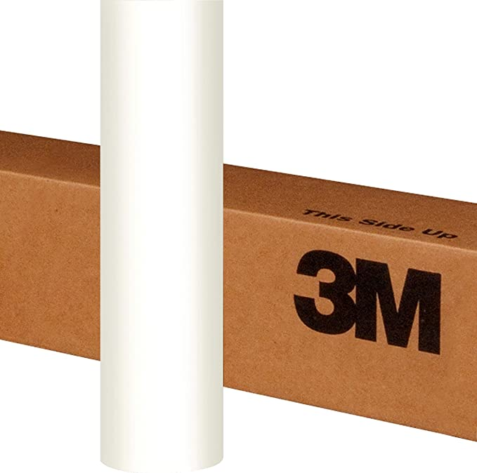 3M 1080 Satin White Air-Release Vinyl Wrap Roll 1//2ft x 5ft