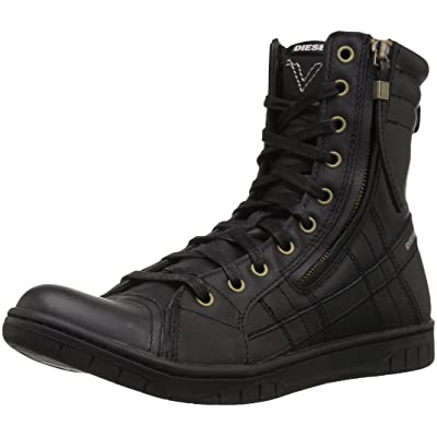 Diesel Men's Tatradium D-VALADIUM Fashion Boot, Black, 8 M US: Shoes